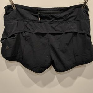 lululemon athletica Shorts - Lululemon Black Running Shorts XS